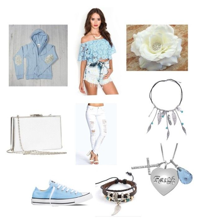 """""""Sky blue"""" by katnicwin on Polyvore featuring Trend Cool, Converse and Boohoo"""