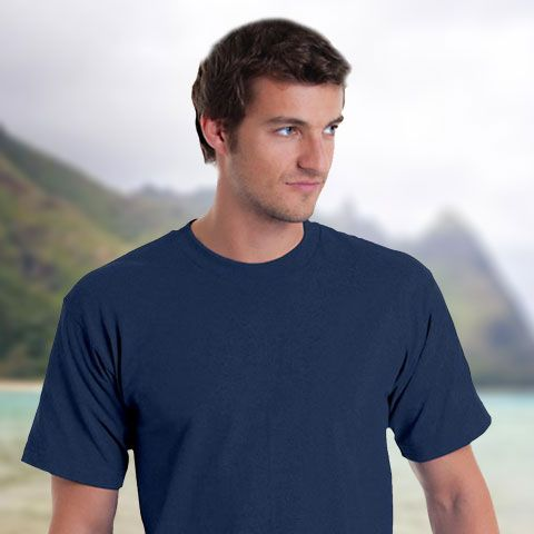 Get a fresh look with Bayside BA5040 Adult Basic T-Shirt for Mens