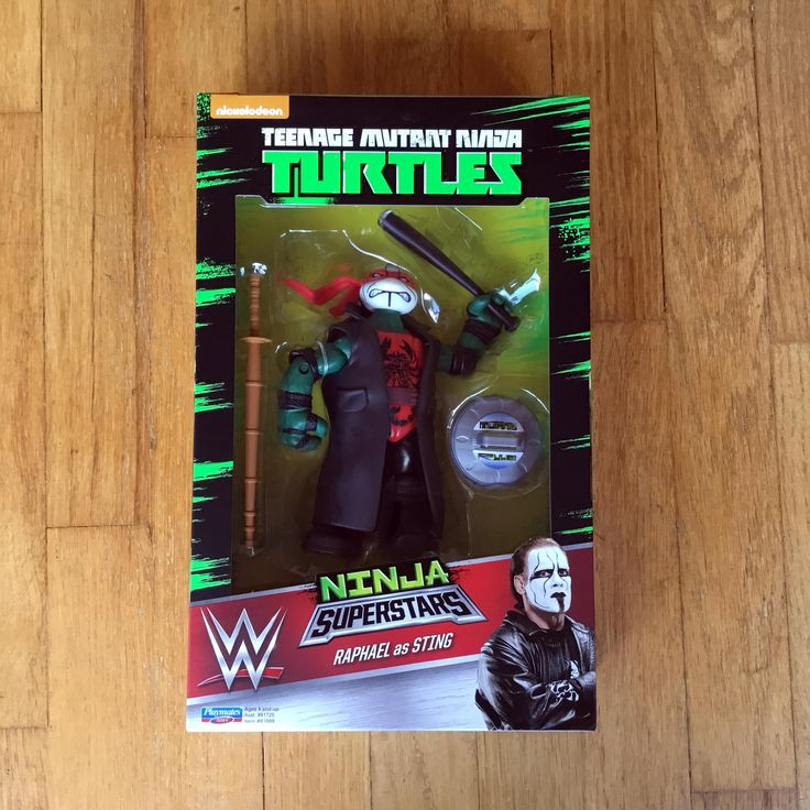 2016 Teenage Mutant Ninja Turtles Playmates Toys / World Wrestling Entertainment (WWE)  Ninja Superstars  WALMART EXCLUSIVE  Raphael as STING  New in Box (NIB) Sealed Directly from Playmates Toys via Pre-order from Ringside Collectibles, Inc  RIP MACHO MAN WE LOVE YOU BROTHER