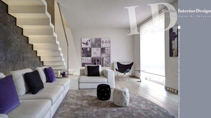 Zona giorno, villa nel milanese www.studiointeriordesign.it