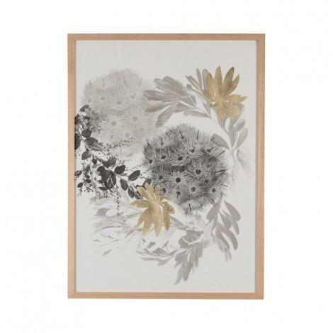 Flowering Gum Paper Print in Black & Gold | Bonnie & Neil – Salt Living or online at www.saltliving.com.ay #saltliving #bonnieandneil #screenprinting #linen #handmade #print #art