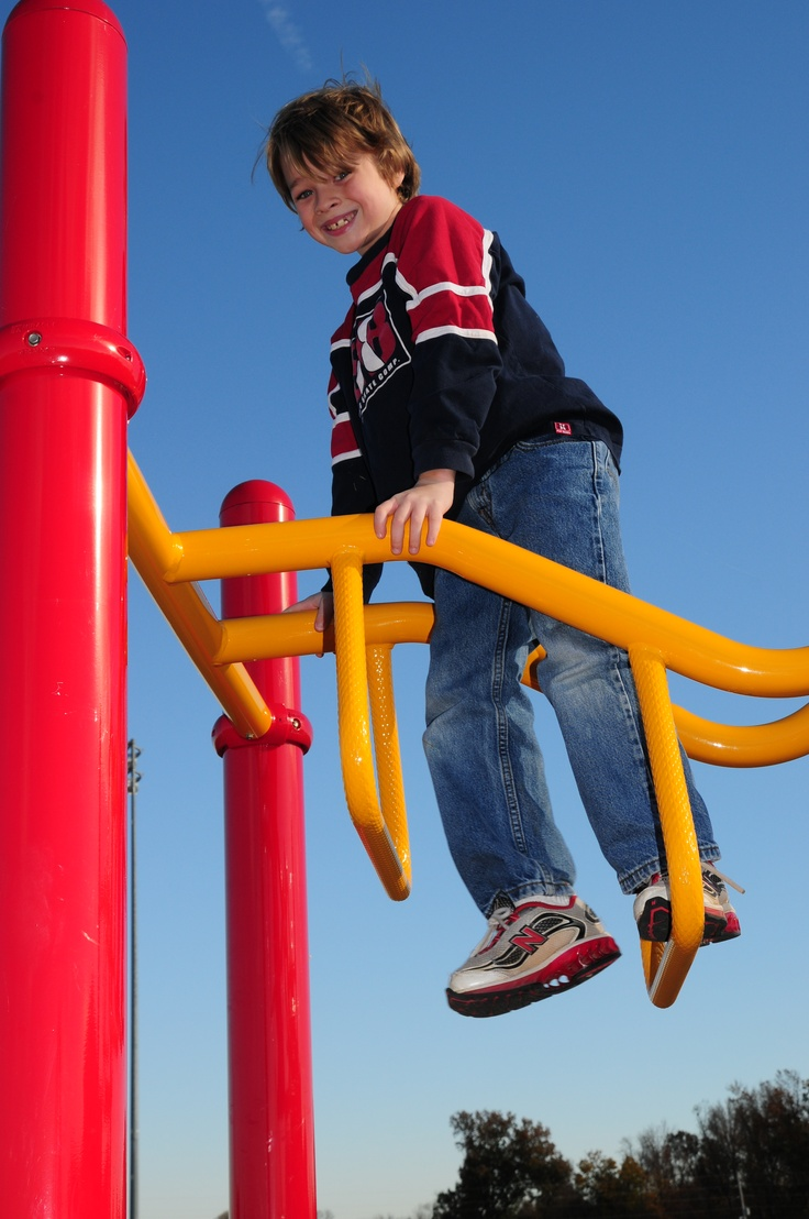 Playgrounds are always a great place to catch a true smile.