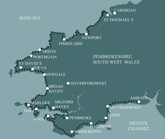 Pembrokeshire Coast Path Map