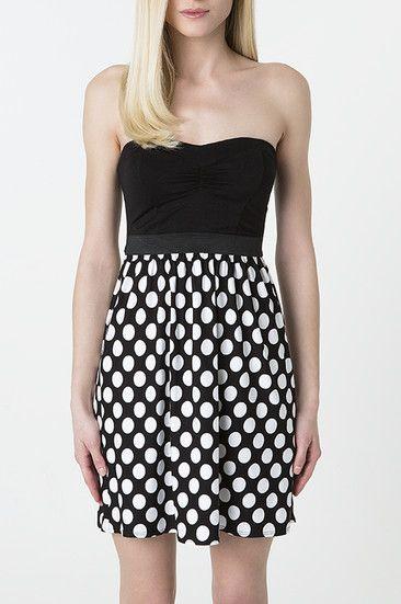 #monochrome polka-dot #dress #musthave #TALLYWEiJL