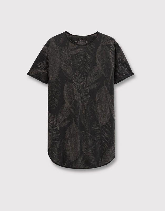 VFIVE UNFOUR Camisetas Extra Largo Linea Larga extendido Hombres tAE80Uxlt