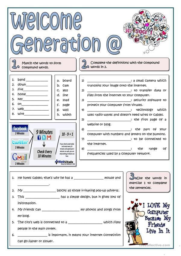 Welcome Generation Worksheet Free Esl Printable Worksheets Made By Teachers Worksheets Free Education Quotes Education Motivation