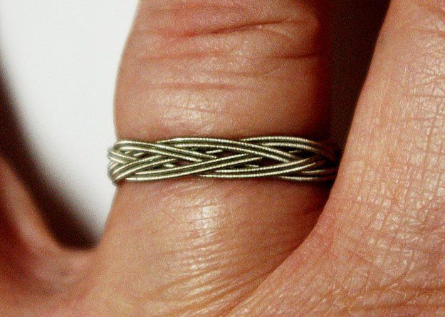 Guitar String Ring DIY Jewelry | 20 Beautiful Handmade Designs for Rings, Bracelets and Necklace, see tutorials at  http://diyready.com/diy-jewelry-ideas/