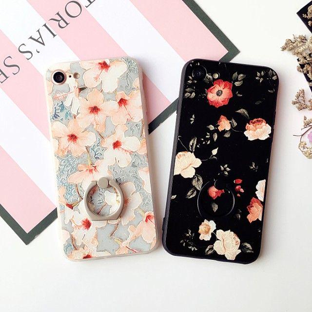 「スマホカバー/iPhone7/iPhone7 Plus/iPhone6 /iPhone6 Plusケースリング付きスマホケース/花柄スマホケースBL20043」の商品情報やレビューなど。