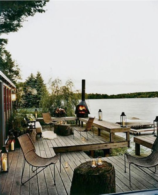 DeckLake Houses, Lakes House, Dreams, Decks, Outdoor Living, Thom Filicia, Porches, Patios, Outdoor Spaces