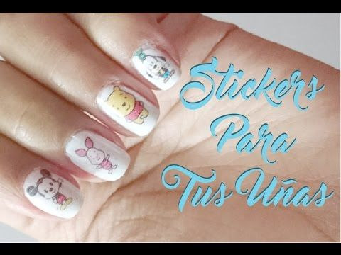 Cómo hacer tus propios stickers para las uñas en casa? - How to Create Nail Art stickers at home ? - YouTube