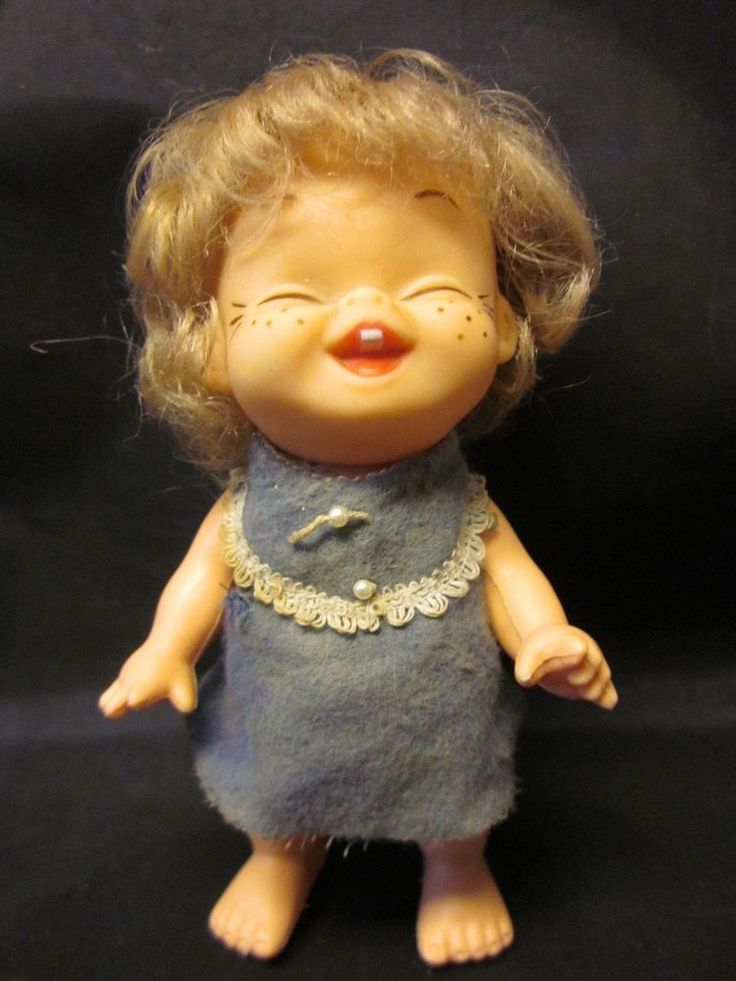 Ugly Baby Doll Vintage Posable 1960s Hong Kong Rooted