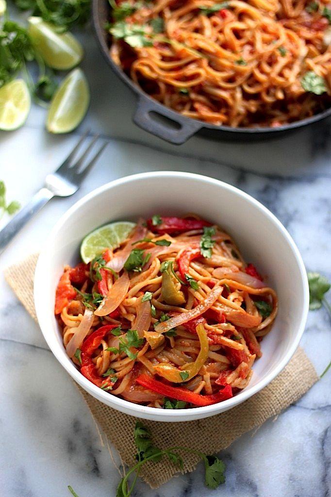 One-Pan Veggie Fajita Pasta | Recipe | Nature, Cilantro and My family
