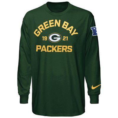 Nike Green Bay Packers Arch Long Sleeve T-Shirt - Green