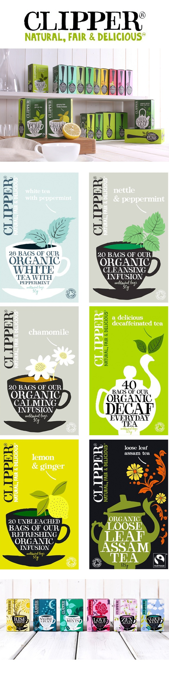 Clipper Tea packaging by Big Fish