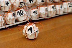adventi naptár tojástartóból