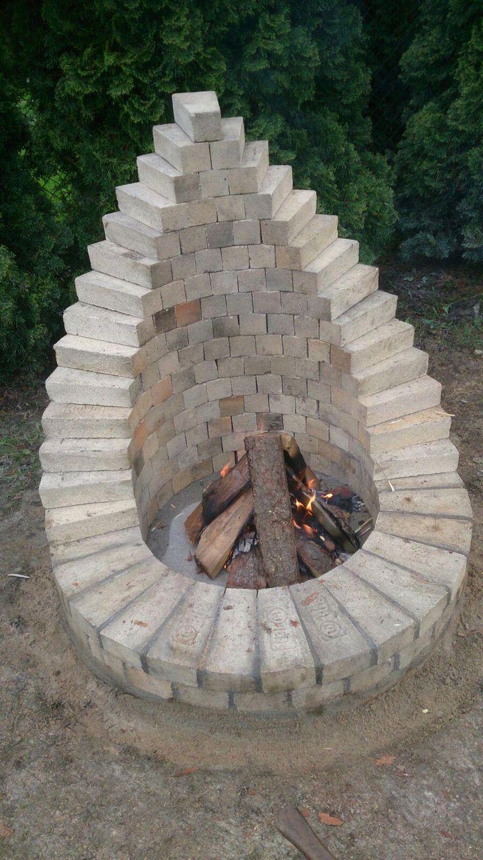 Dies ist eine von vielen Möglichkeiten um im Garten eine Feuerstelle zu erricht…