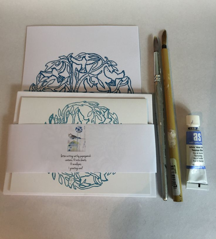 Blue Tree of Life |Letter writing set contains| 10 note papers| 10 envelopes| and 1 matching card | by PaperJamink on Etsy