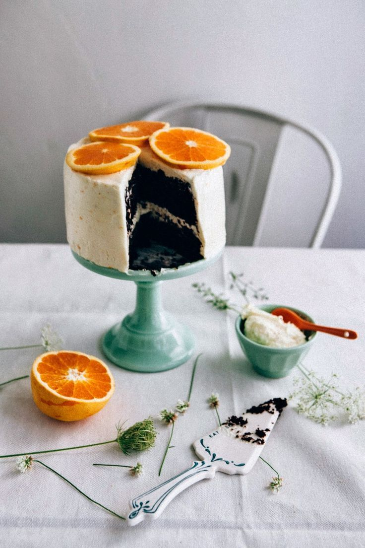 Chocolate Orange Cake With Salted Cream Cheese Frosting In