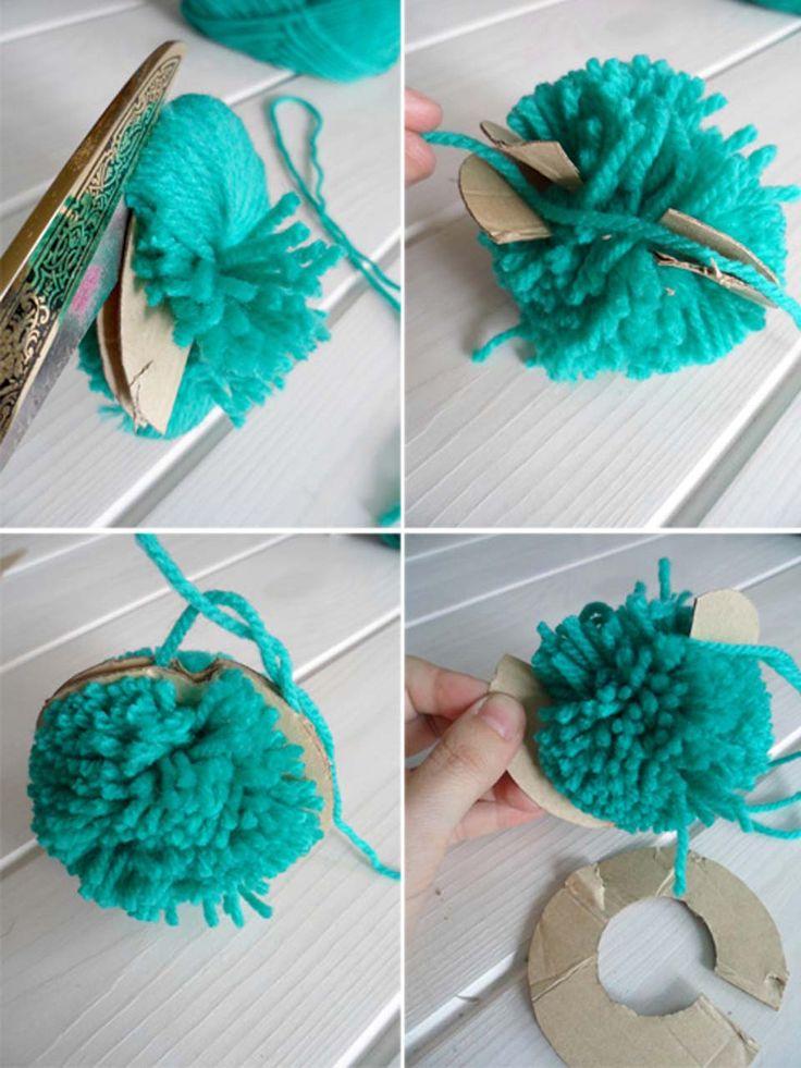 ideas con pompones de lana