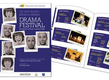 Brochure for local Drama Festival