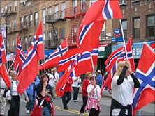 Syttende Mai, Norwegian Independence Day, May 17: It celebrates the day in 1814 when Norway adopted its Constitution and declared its independence from Denmark. It was then forced into a Union with Sweden for a hundred years before gaining its complete independence.