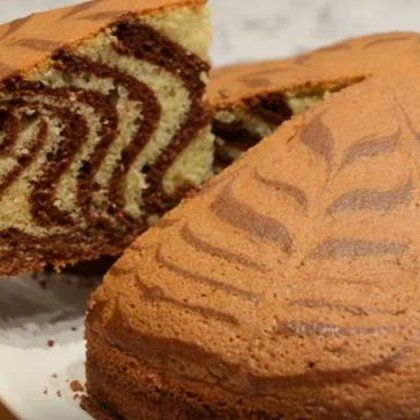 Пирог зебра - рецепт с фото