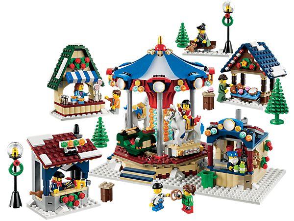 LEGO® Creator Winterlicher Markt – festliche Weihnachtsszenen zum Bauen und Sammeln!