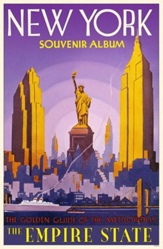 Vintage Travel Poster - USA - New York Help us get there!! www.kickstarter.c...