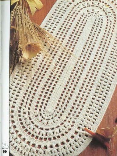 688 best doilies table cloths images on pinterest - Set de table crochet ...
