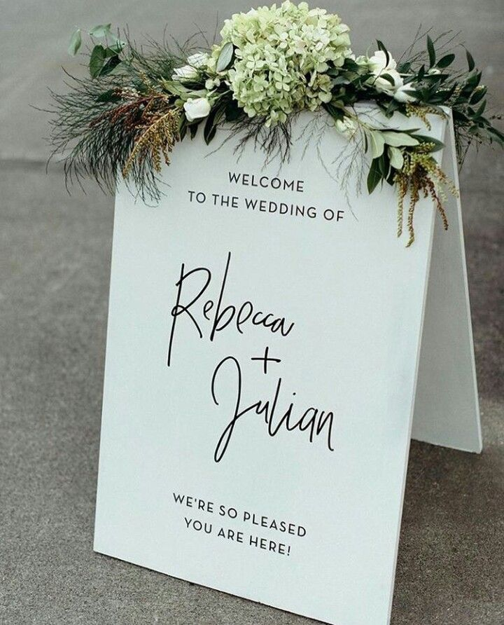Wedding invitation wedding sign