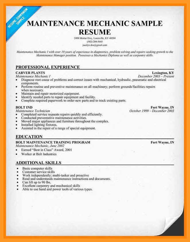 Auto Mechanic Resume Objective Examples Inspirational 10 11 Sel Mechanic Resume Skills Good Resume Examples Resume Objective Examples Resume Skills