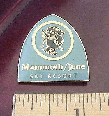 VINTAGE MAMMOTH / JUNE MOUNTAIN CALIFORNIA SKI RESORT LOGO PIN