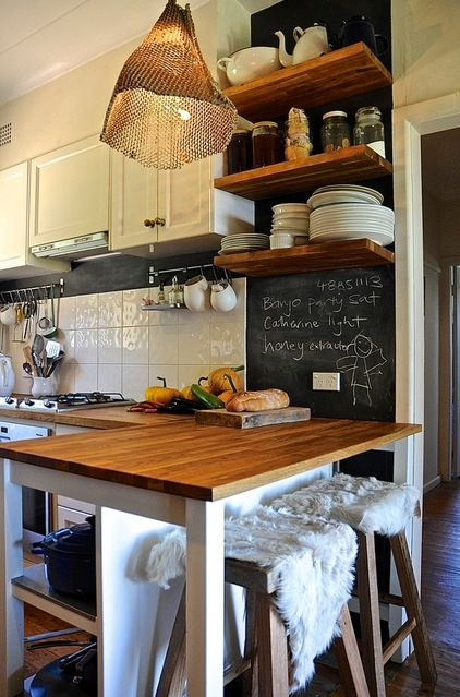 rustic kitchen by Luci.D Interiors - Australian farmhouse Bohemian/Country. Nice upcycling ideas. houzz.com