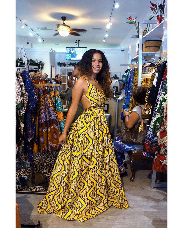 Maxi dress. African print