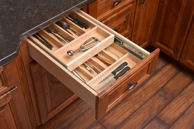 Century Components Double-Tier Silverware Tray Organizer contemporary-kitchen-drawer-organizers