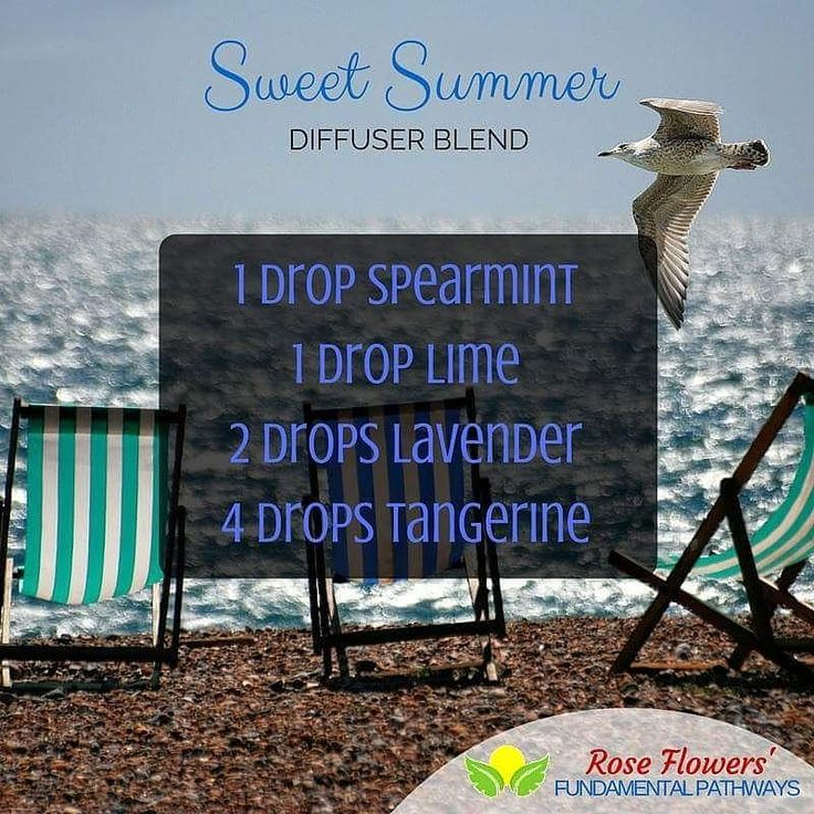 This is a sweet summer diffuser blend for you to enjoy during these wonderfully warm summer days. #essentialoils #diffuserblend