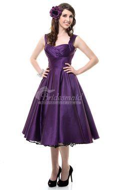 a line purple dress tea length - Google Search