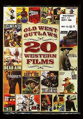OLD WEST OUTLAWS 20 WESTERN FILMS MOVIES 4 DVDS 2013 SEALED NEW