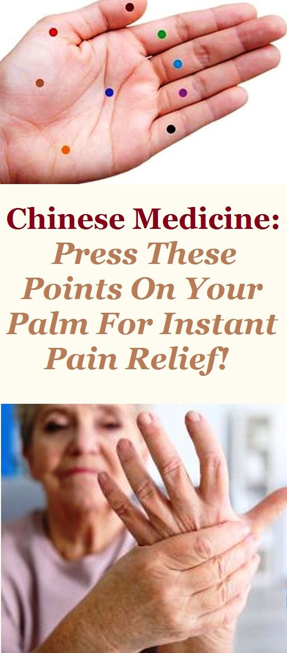 Chinese Medicine: Press These Points On Your Palm For Instant Pain Relief!