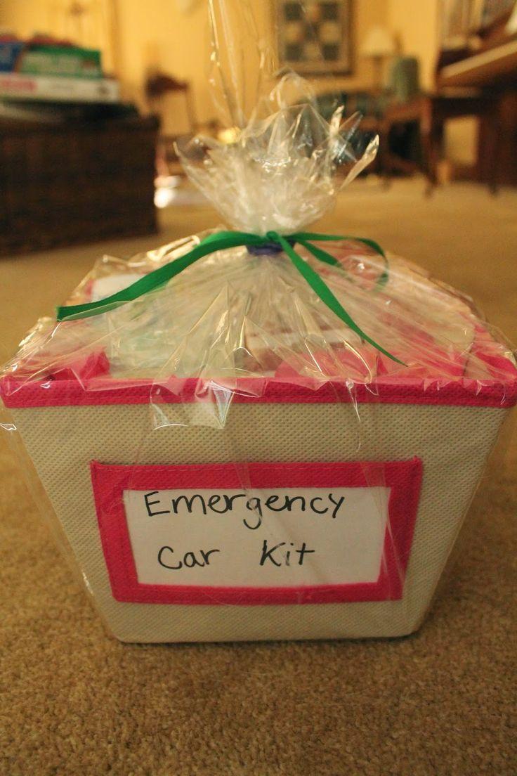 Emergency Car Kit- 16th Birthday Gift Basket | Gift Ideas ...