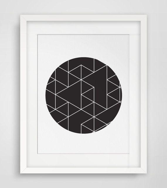 Circle Print  Black and White  Geometric Print Art  Circle Art  Triangle  Print. 25  best Triangle print ideas on Pinterest   Nordic style  Teal