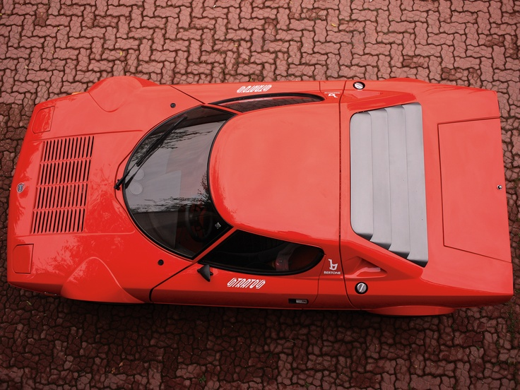 The Lancia Stratos. it must be the only car where the wheel arches protrude from the top of the bonnet.