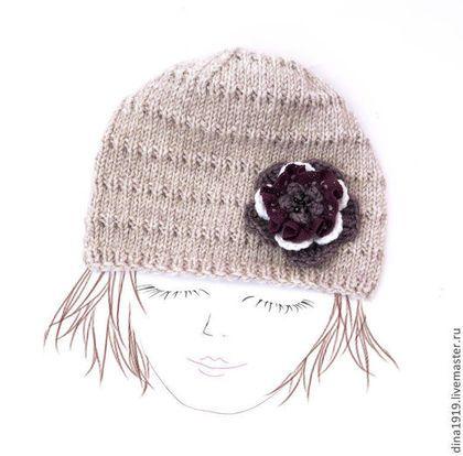 Kızlar için giyim, el yapımı.  Fuar Masters - bej kızlar, Çocuk şapka, bohem tarzı, el yapımı kap.  El yapımı.