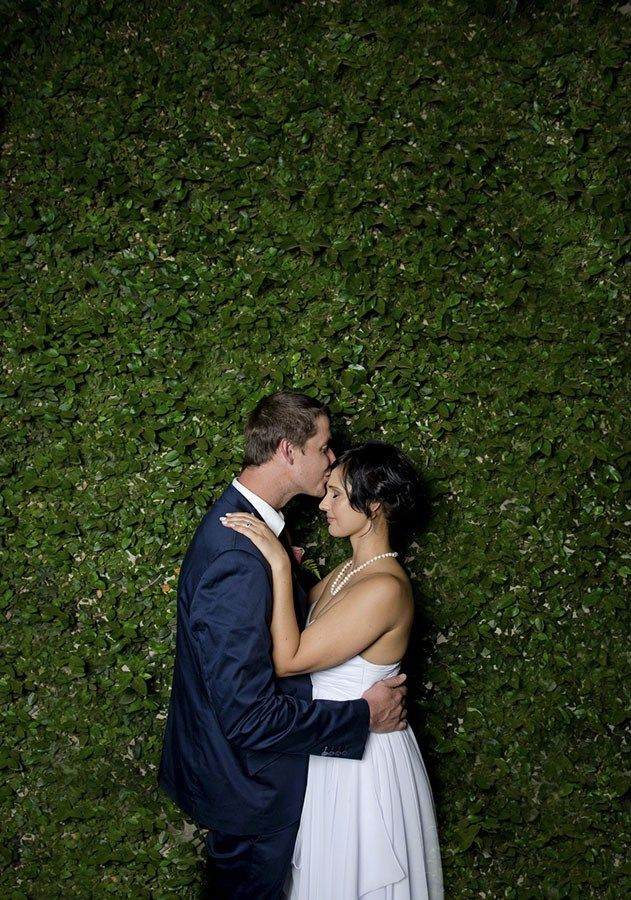 Photos of Daniel of Charlene's intimate Johannesburg wedding.