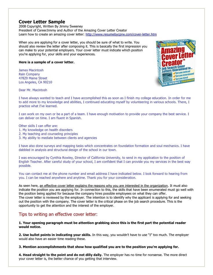 45 best Hire me !!! images on Pinterest Cover letter example - how do you make a cover letter