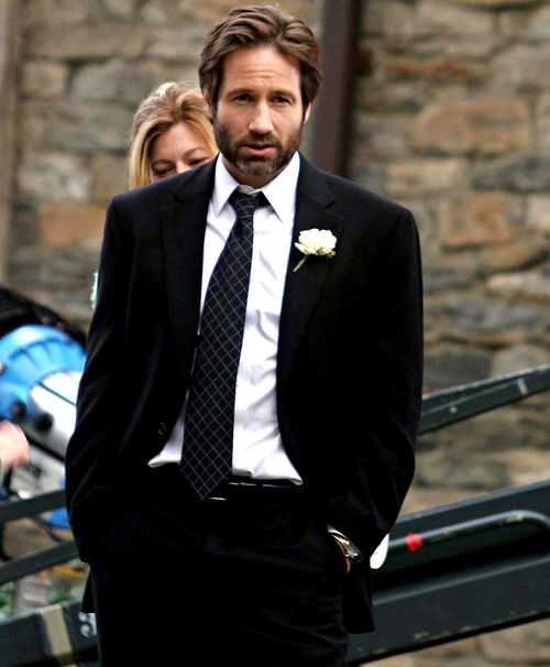 David Duchovny with a beard