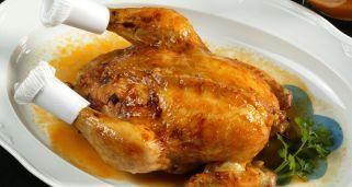 Receta de Pollo relleno con salsa
