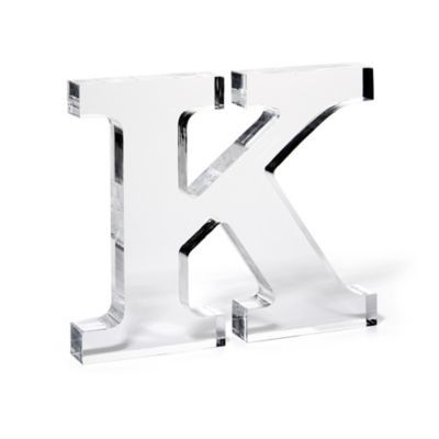 lucite monogram letter decorative accents home decor categories c wonder