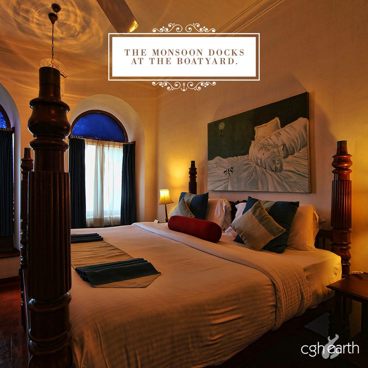 King size beds at Brunton Boatyard, a luxury boutique hotel in Fort Kochi, India.