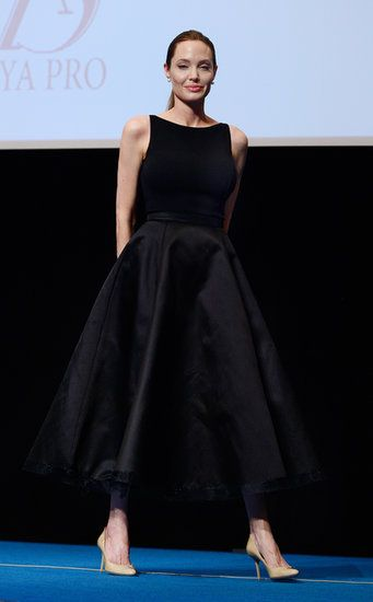 Angie Gives a Speech, and Squeezes in a Premiere With Brad, in Tokyo: Angelina Jolie spoke to a Japanese audience about rape in war zones.